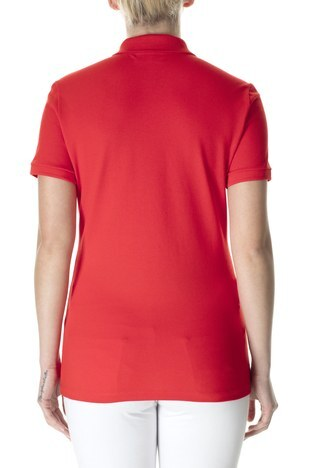 Lacoste - Lacoste Yaka T Shirt Kadın Polo PF5462 S5H KIRMIZI (1)