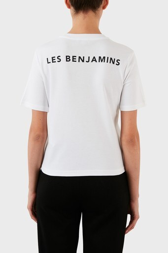 Les Benjamins Bayan T Shirt LB21FWRALFUTS-007 BEYAZ