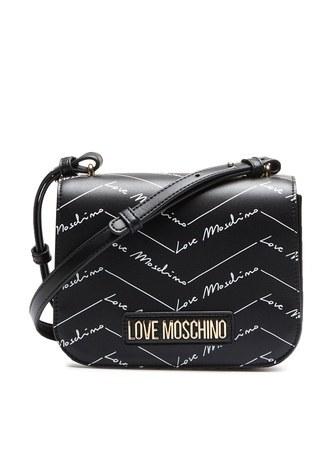 Love Moschino - Love Moschino Baskılı Ayarlanabilir Omuz Askılı Kadın Çanta JC4247PP0BKH0000 SİYAH