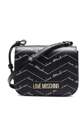 Love Moschino Baskılı Ayarlanabilir Omuz Askılı Kadın Çanta JC4247PP0BKH0000 SİYAH