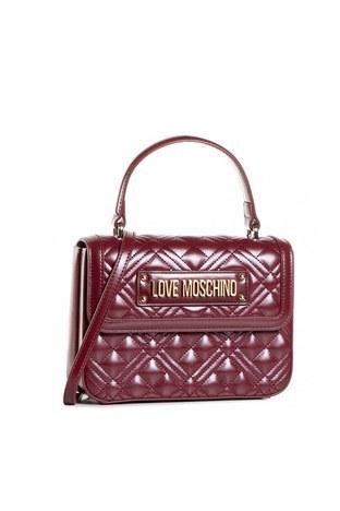 Love Moschino - Love Moschino Baskılı El ve Omuz Kadın Çanta JC4306PP0BKA0552 BORDO