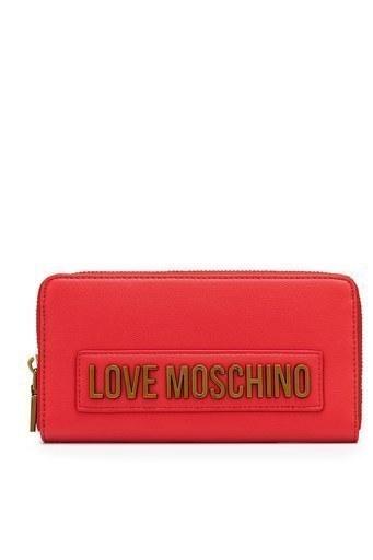 Love Moschino Baskılı Fermuarlı Kadın Cüzdan JC5622PP1BLK0500 KIRMIZI