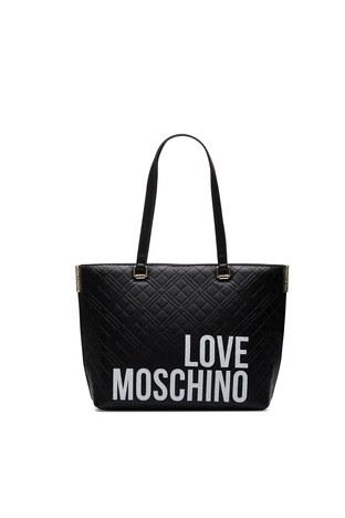 Love Moschino - Love Moschino Baskılı Omuz Kadın Çanta JC4229PP0BKE000A SİYAH