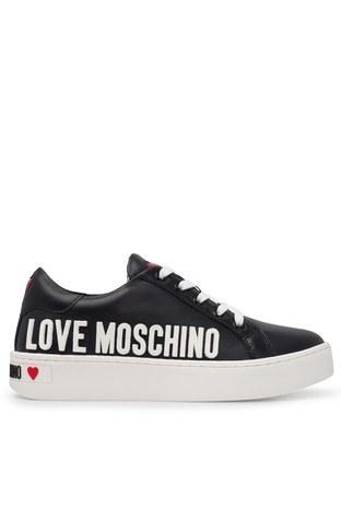 Love Moschino - Love Moschino Deri Bayan Ayakkabı JA15063G1BIA0000 SİYAH