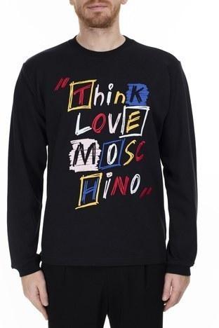 Love Moschino - Love Moschino Erkek Sweat S M653601M3875 C74 SİYAH