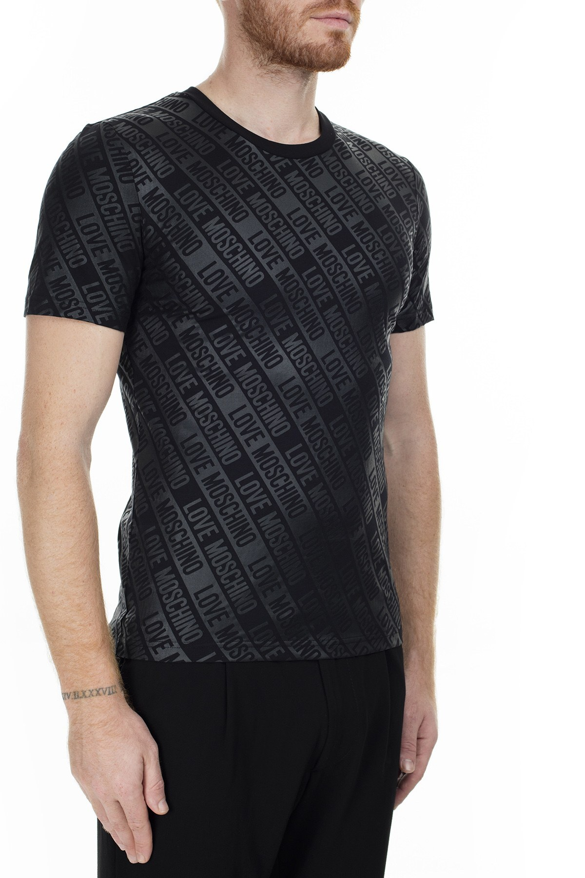 Love Moschino Erkek T Shirt S M473100E2013 0017 SİYAH