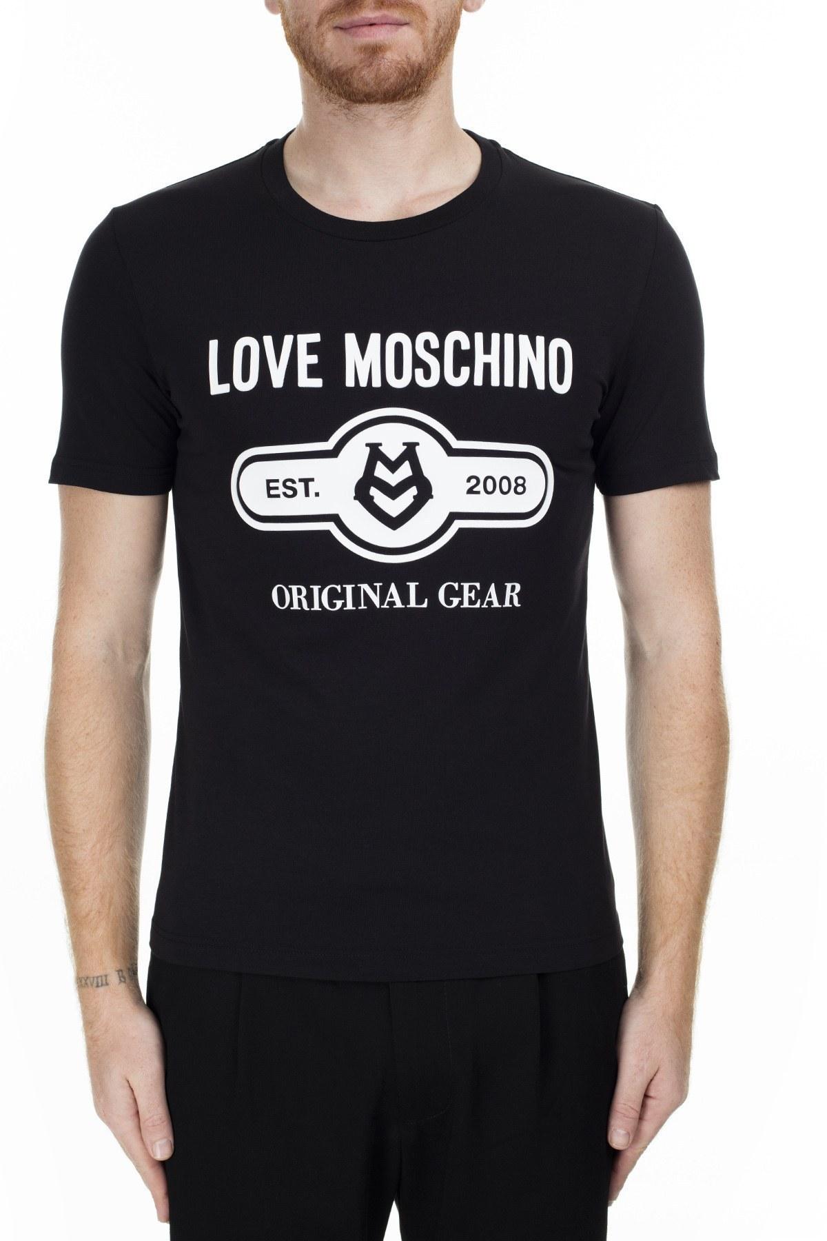 Love Moschino Erkek T Shirt S M47312IE1811 C74 SİYAH