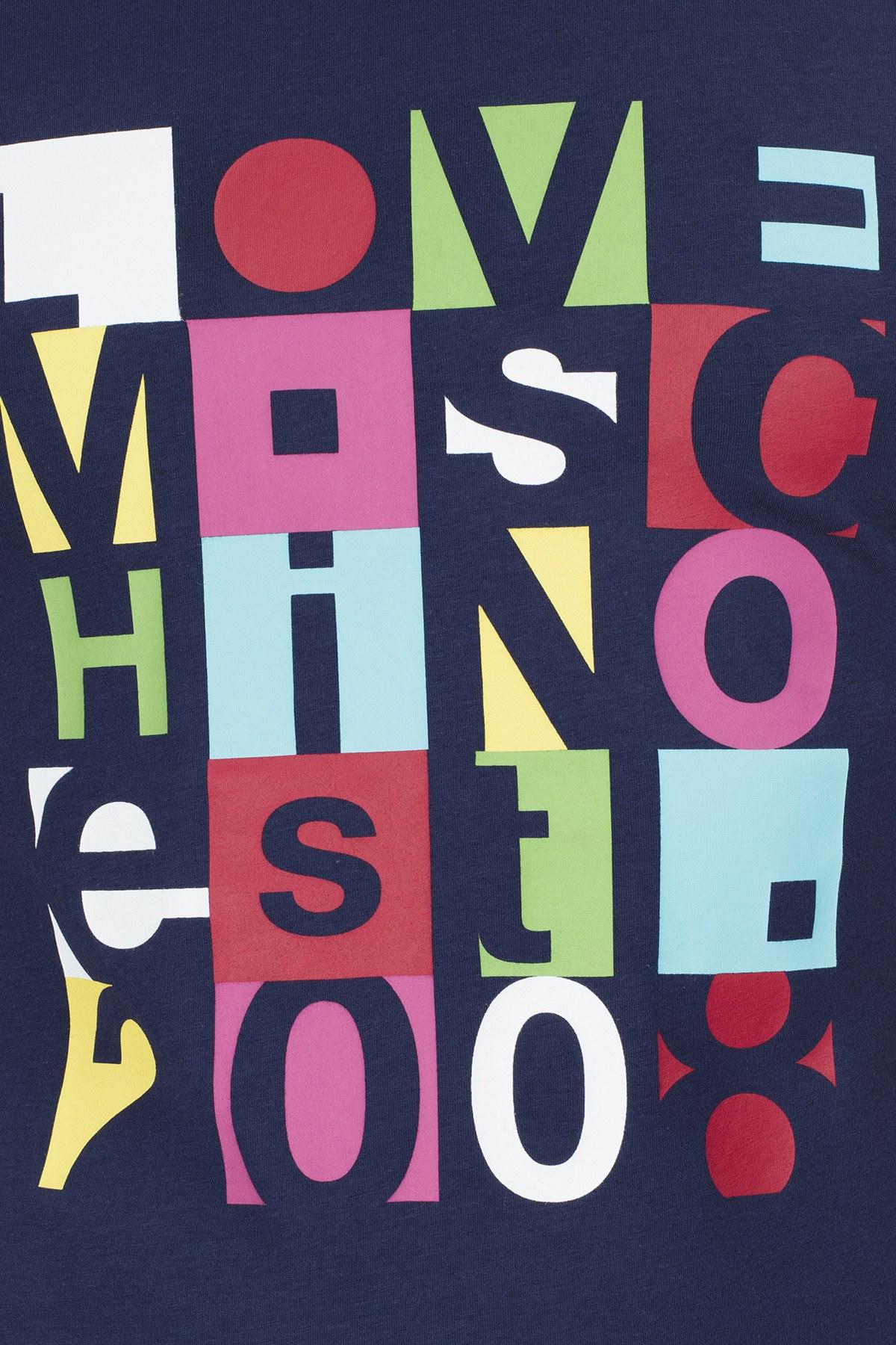 Love Moschino Erkek T Shirt S M47312LE1811 Y61 LACİVERT