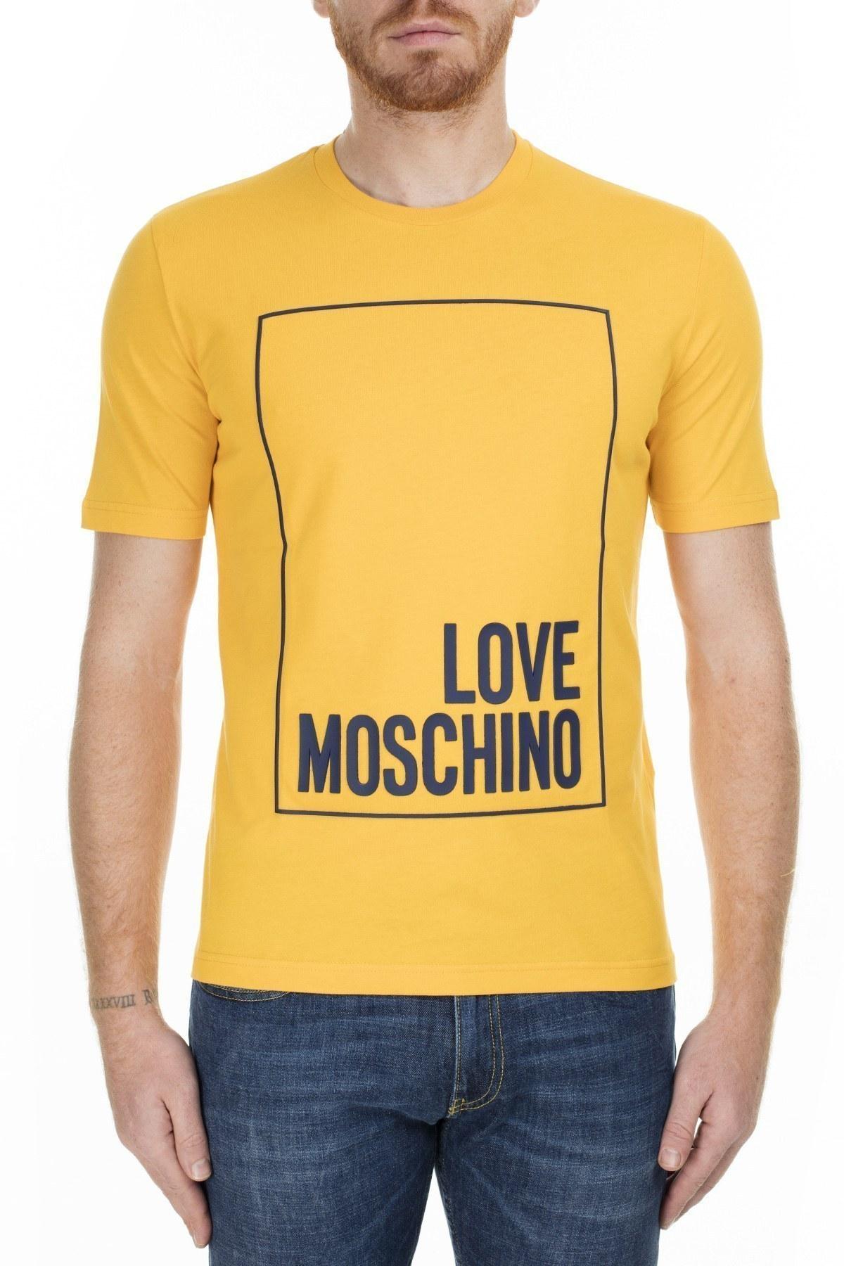 Love Moschino Erkek T Shirt S M47322RM3876 I63 SARI