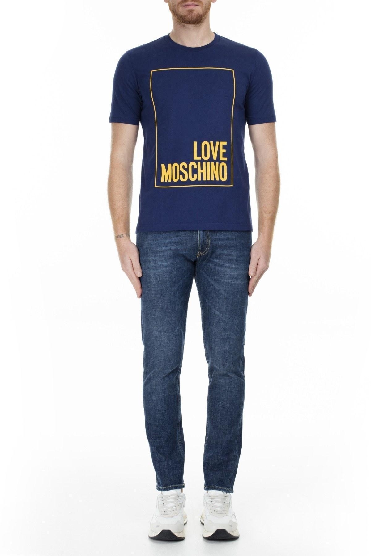 Love Moschino Erkek T Shirt S M47322RM3876 Y56 LACİVERT