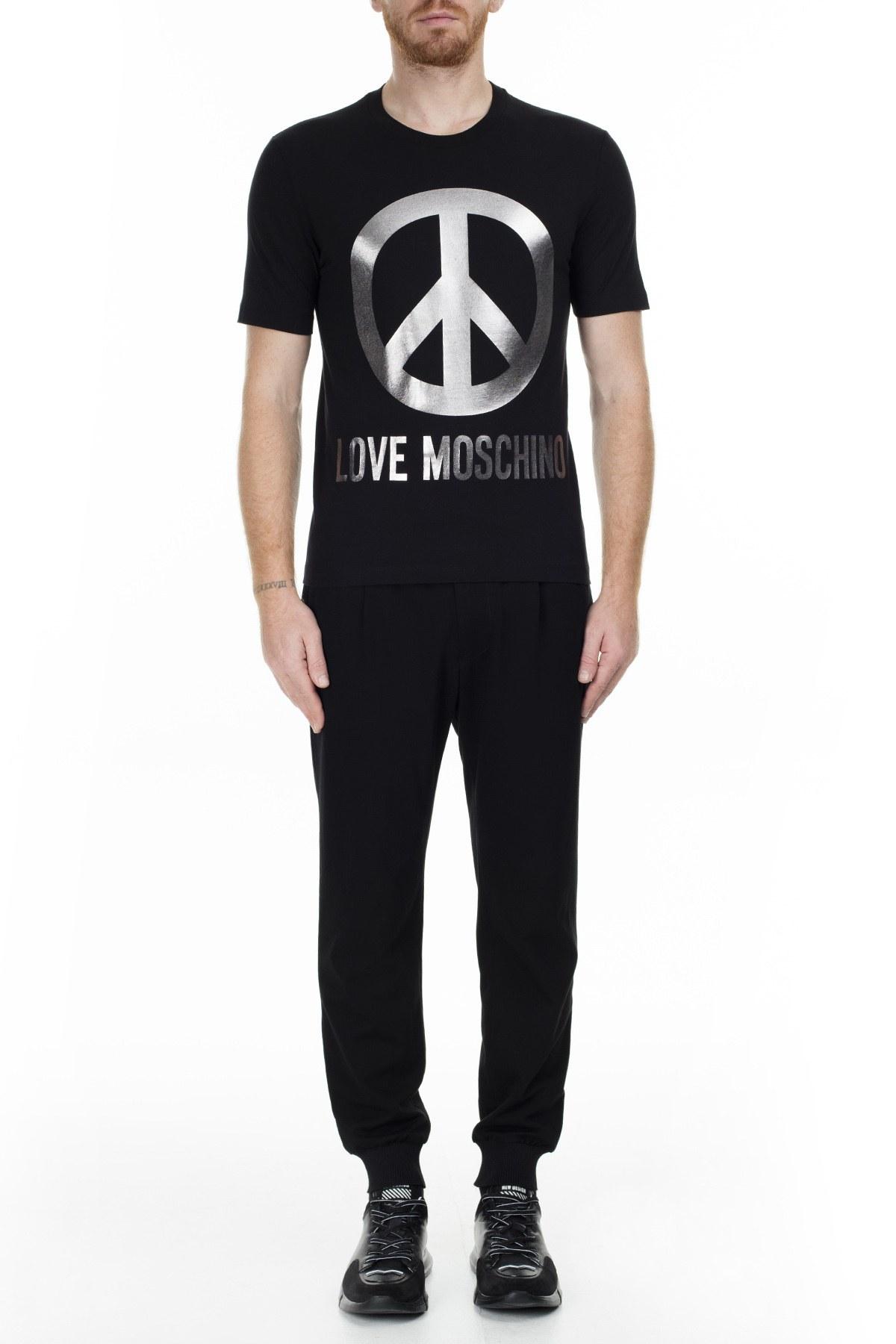 Love Moschino Erkek T Shirt S M47322YM3876 C74 SİYAH