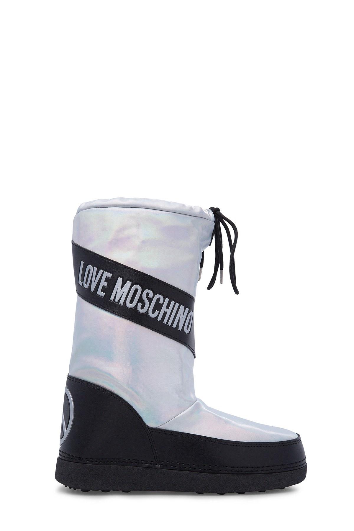 Love Moschino Kadın Kar Botu JA24012G18IJ0902 GÜMÜŞ
