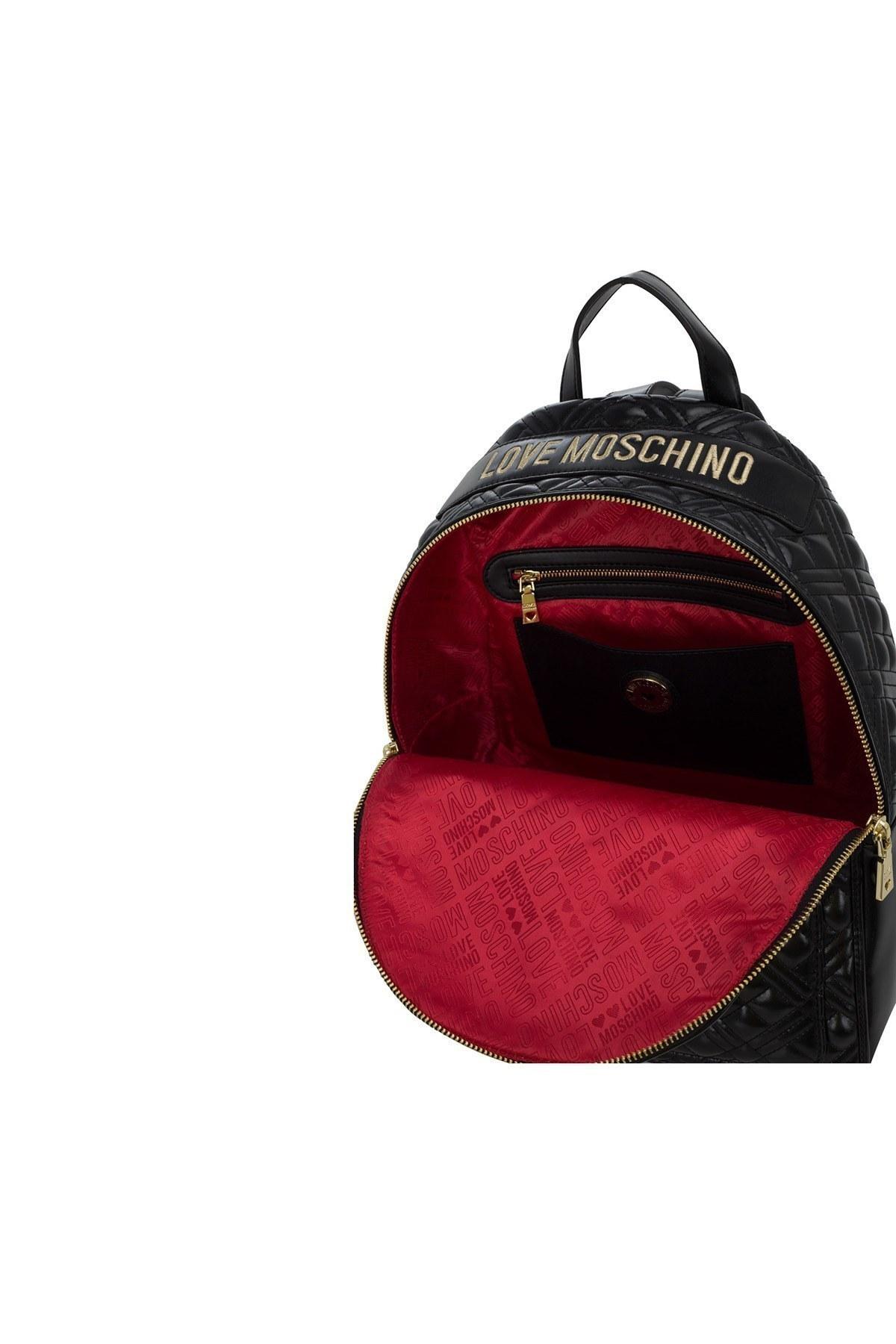 Love Moschino Logo Baskılı Ayarlanabilir Askılı Kadın Çanta JC4007PP1BLA0000 SİYAH