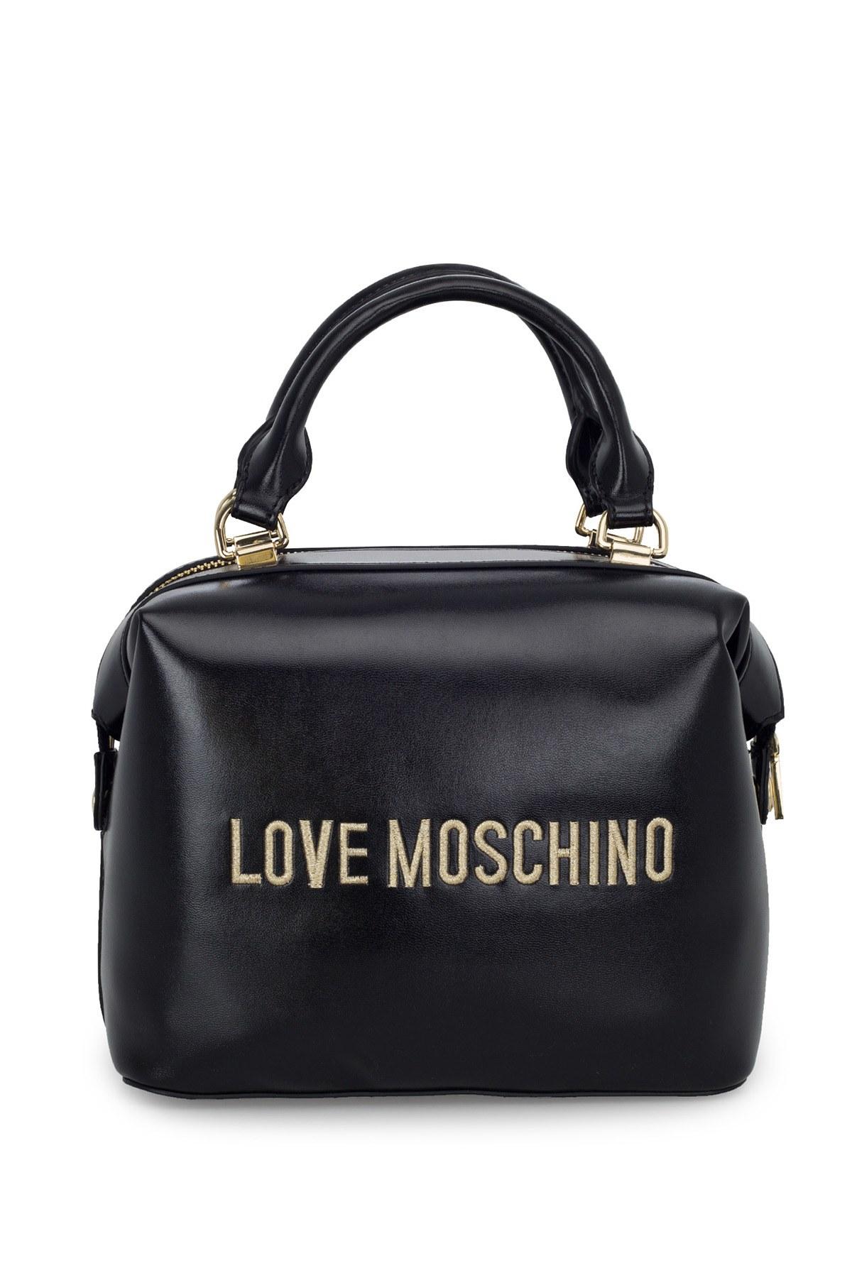Love Moschino Logo Baskılı Ayarlanabilir Askılı Kadın Çanta JC4008PP1BLA0000 SİYAH