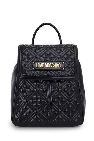 Love Moschino - Love Moschino Logo Baskılı Ayarlanabilir Askılı Kadın Çanta JC4012PP1BLA0000 SİYAH