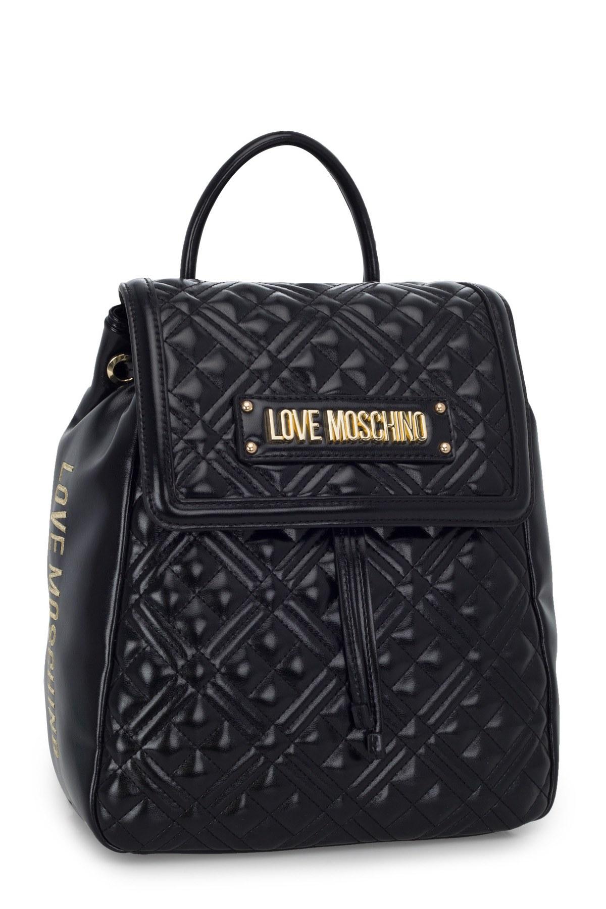 Love Moschino Logo Baskılı Ayarlanabilir Askılı Kadın Çanta JC4012PP1BLA0000 SİYAH