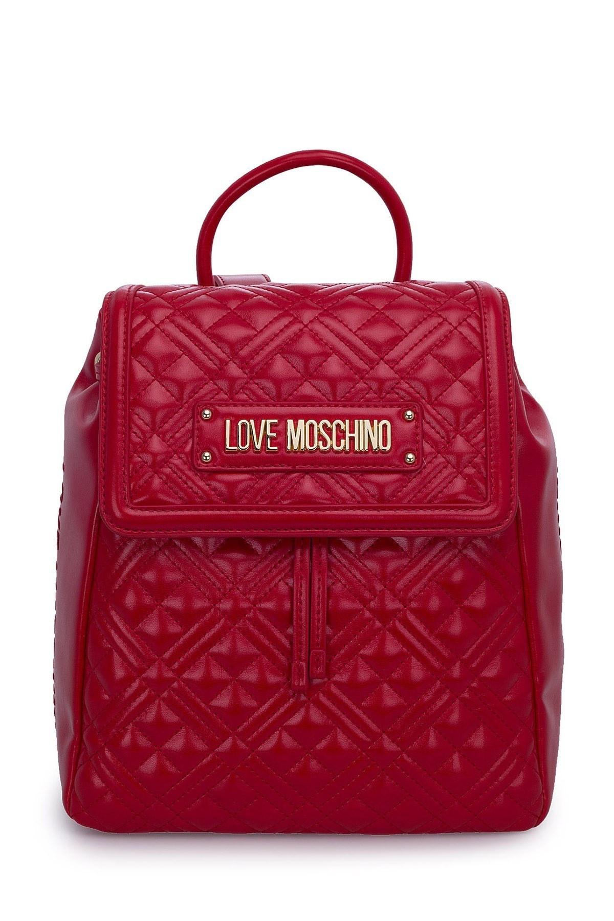 Love Moschino Logo Baskılı Ayarlanabilir Askılı Bayan Çanta JC4012PP1BLA0500 KIRMIZI