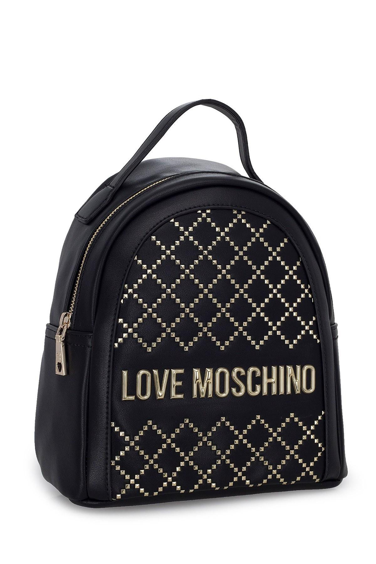 Love Moschino Logo Baskılı Ayarlanabilir Askılı Bayan Çanta JC4051PP1BLG0000 SİYAH