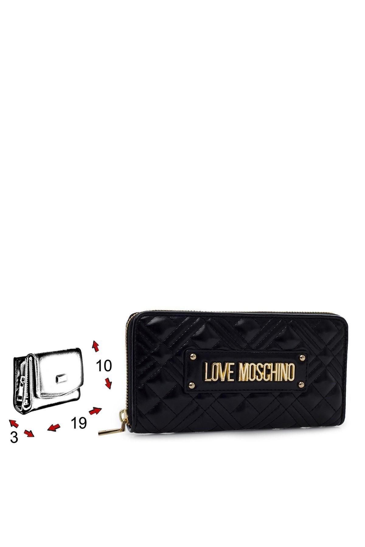 Love Moschino Logo Baskılı Fermuarlı Kadın Cüzdan JC5600PP1BLA0000 SİYAH