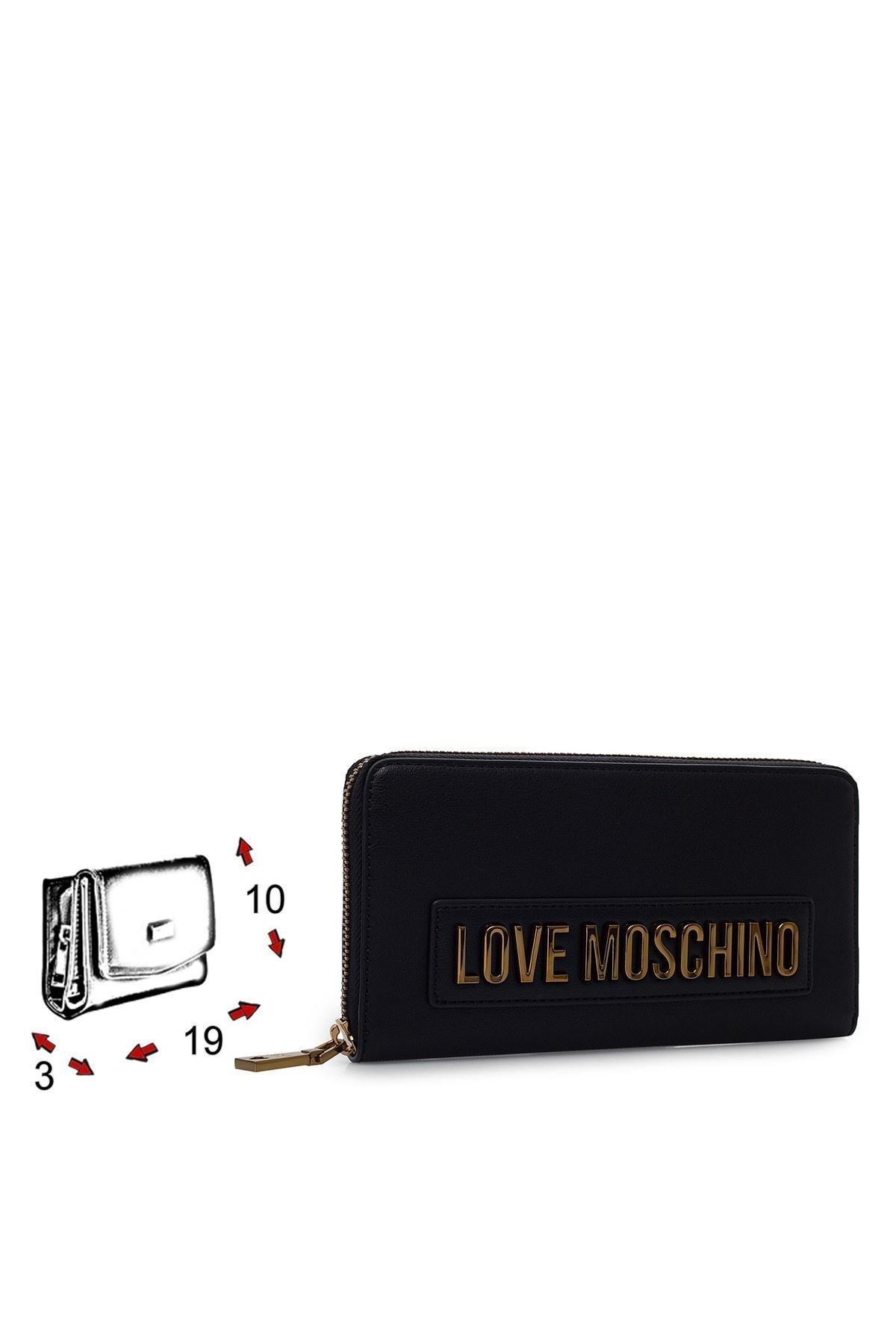 Love Moschino Logo Baskılı Fermuarlı Kadın Cüzdan JC5622PP1BLK0000 SİYAH
