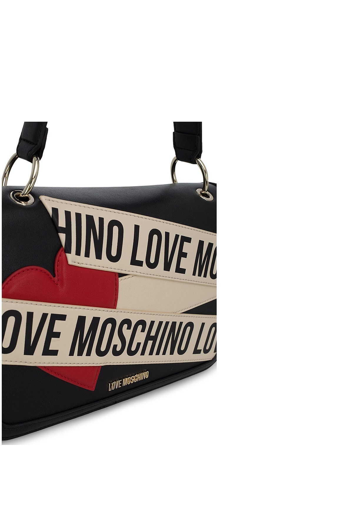 Love Moschino Logo Baskılı Kadın Çanta JC4028PP1BLD100A SİYAH-BEJ