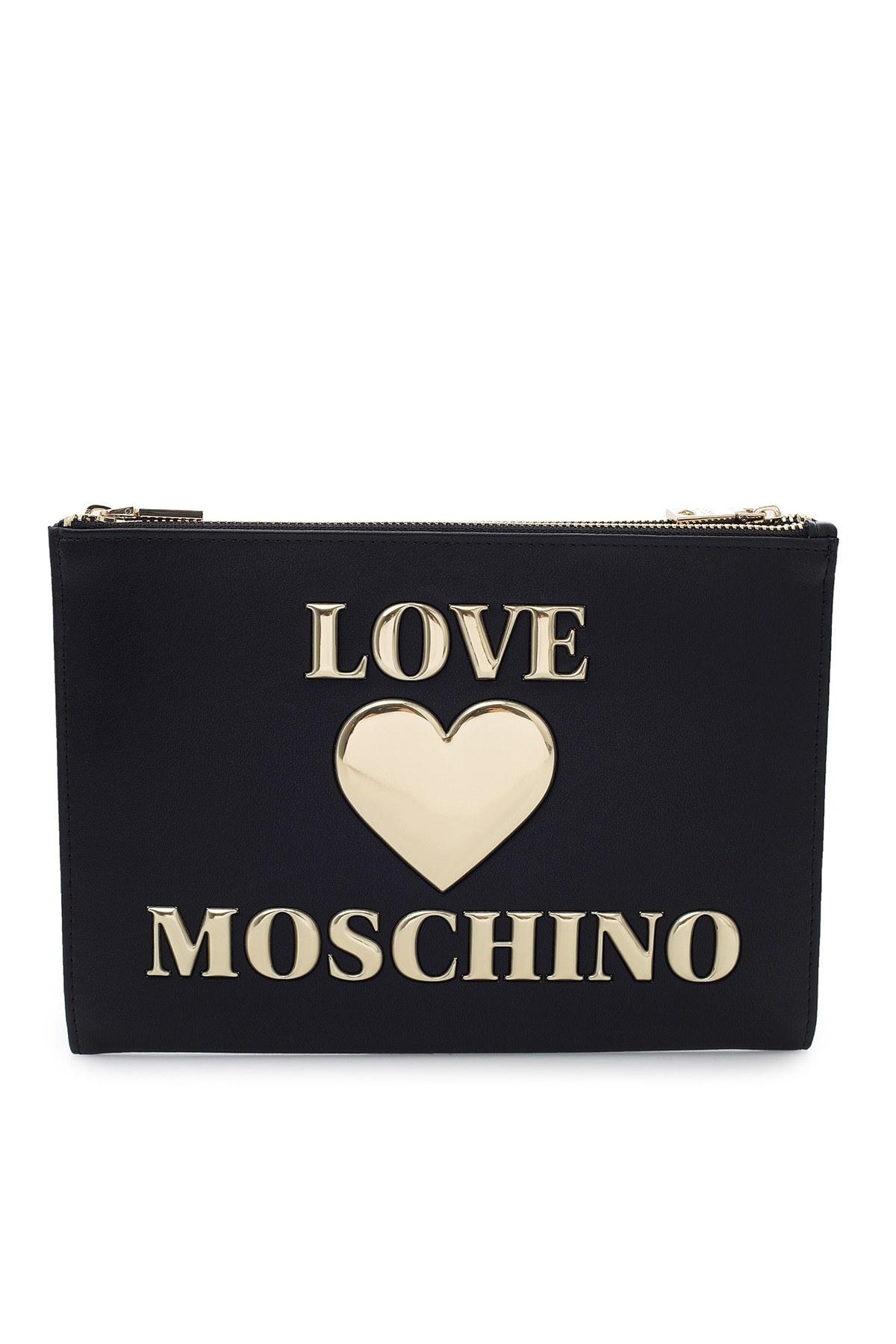 Love Moschino Logo Baskılı Bayan Çanta JC5615PP1BLE0000 SİYAH