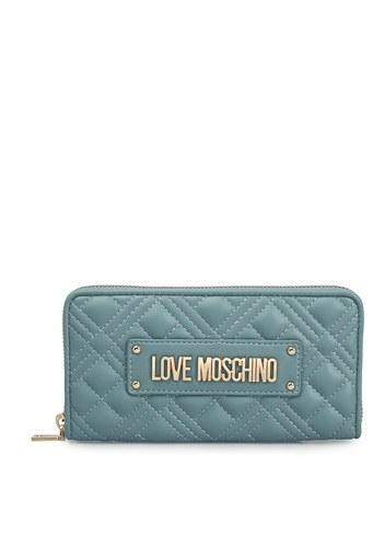 Love Moschino Logo Baskılı Bayan Cüzdan JC5600PP1CLA0700 MAVİ