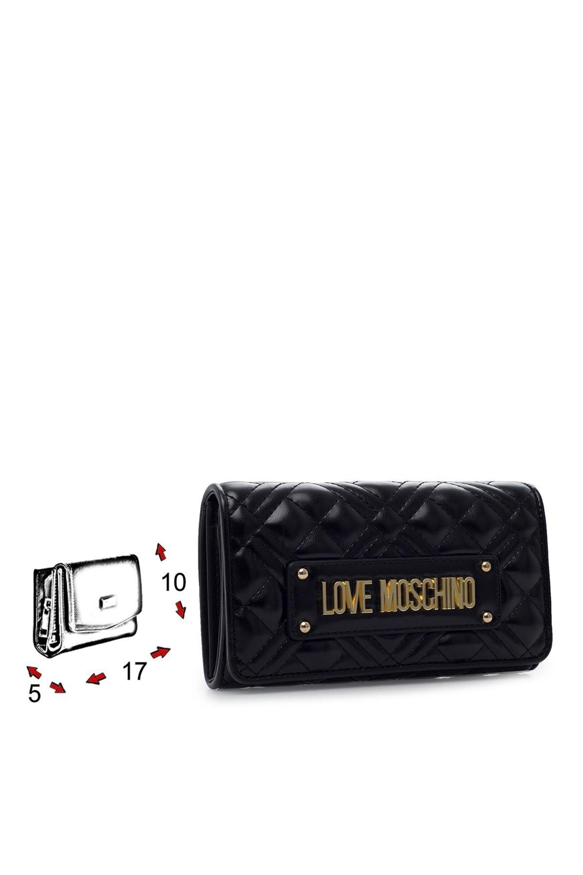 Love Moschino Logo Baskılı Kadın Cüzdan JC5603PP1BLA0000 SİYAH