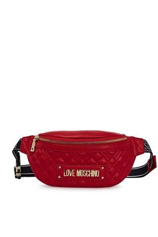 Love Moschino - Love Moschino Logo Baskılı Kapitone Bayan Çanta JC4003PP1CLA0500 KIRMIZI