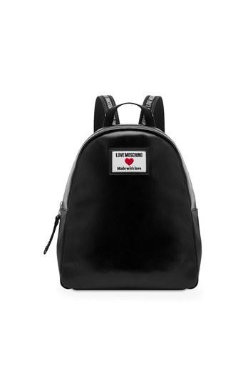 Love Moschino Marka Logolu Ayarlanabilir Omuz Askılı Sırt Bayan Çanta JC4031PP1CLC100A SİYAH