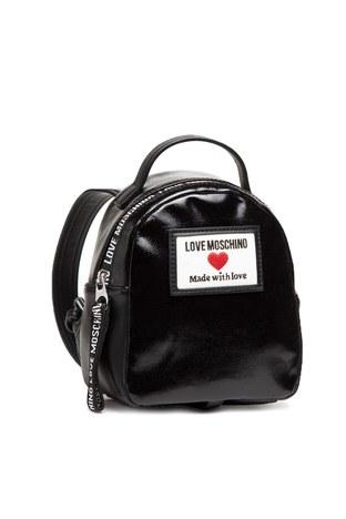 Love Moschino - Love Moschino Marka Logolu Ayarlanabilir Omuz Askılı Sırt Bayan Çanta JC4032PP1CLC100A SİYAH