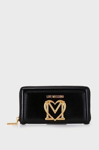 Love Moschino Marka Logolu Fermuarlı Bayan Cüzdan S JC5634PP0CKK0000 SİYAH