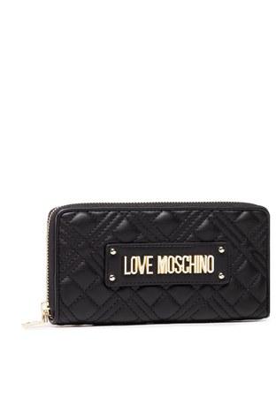 Love Moschino - Love Moschino Marka Logolu Kapitoneli Bayan Cüzdan JC5600PP1CLA0000 SİYAH