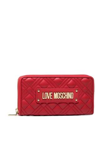Love Moschino - Love Moschino Marka Logolu Kapitoneli Bayan Cüzdan JC5600PP1CLA0500 KIRMIZI