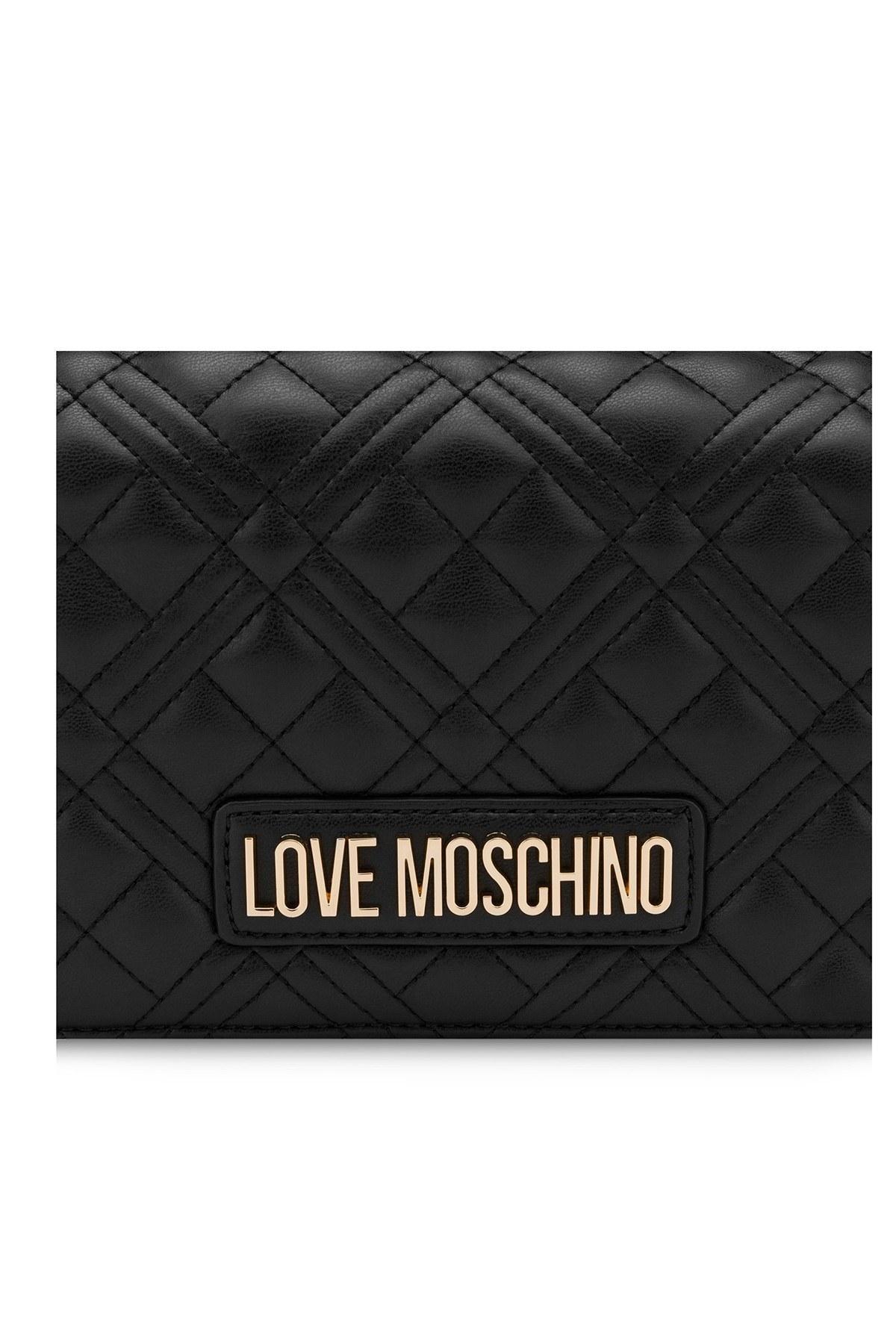 Love Moschino Marka Logolu Kapitoneli Zincir Askılı Omuz Kadın Çanta JC4079PP1CLA2000 SİYAH