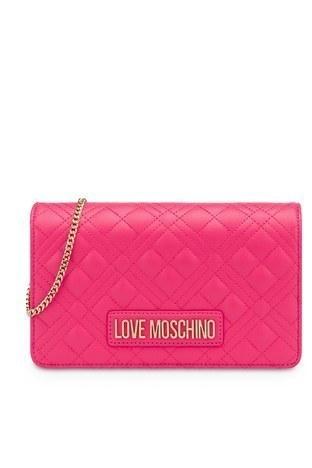 Love Moschino - Love Moschino Marka Logolu Kapitoneli Zincir Askılı Omuz Kadın Çanta JC4079PP1CLA2604 FUŞYA