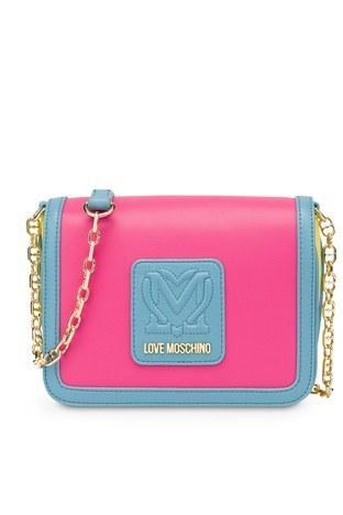 Love Moschino - Love Moschino Marka Logolu Zincir Askılı Omuz Kadın Çanta JC4112PP1CLK160A PEMBE