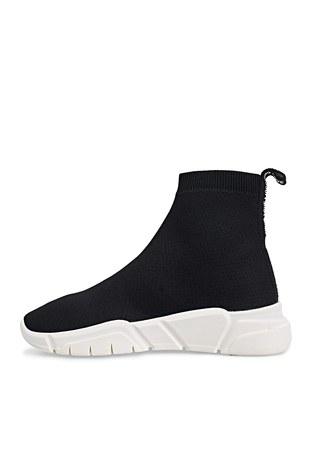 Love Moschino - Love Moschino Sneaker Bayan Ayakkabı JA15343G1CIZ4000 SİYAH (1)