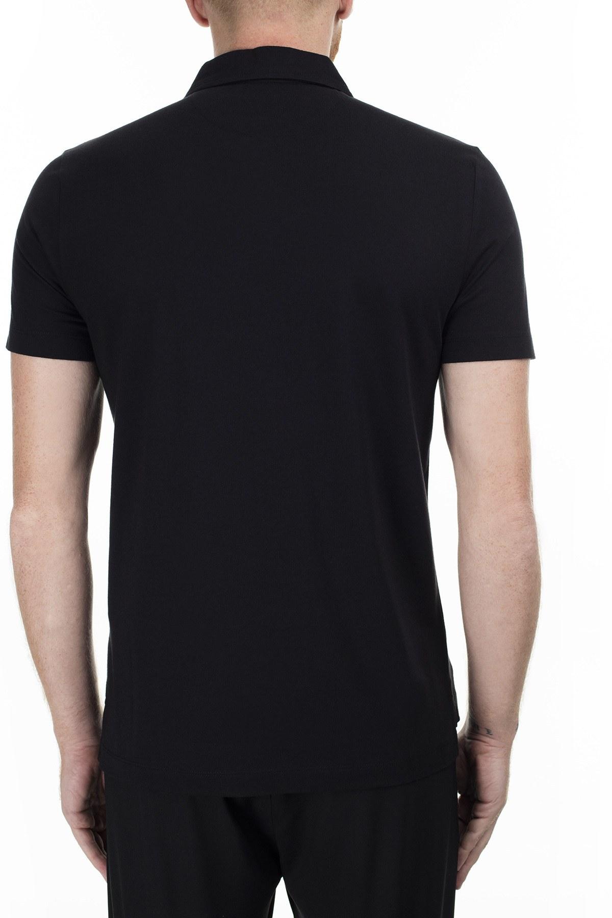 Love Moschino T Shirt Erkek Polo S M831801M3876 C74 SİYAH