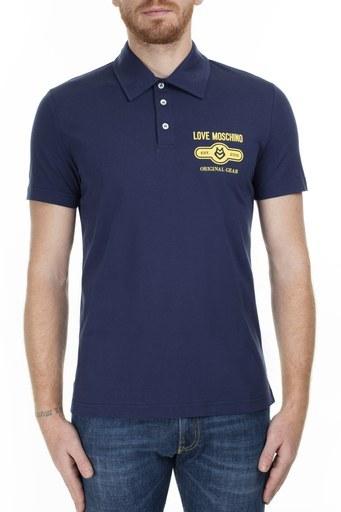 Love Moschino T Shirt Erkek Polo S M831803M3876 Y61 LACİVERT