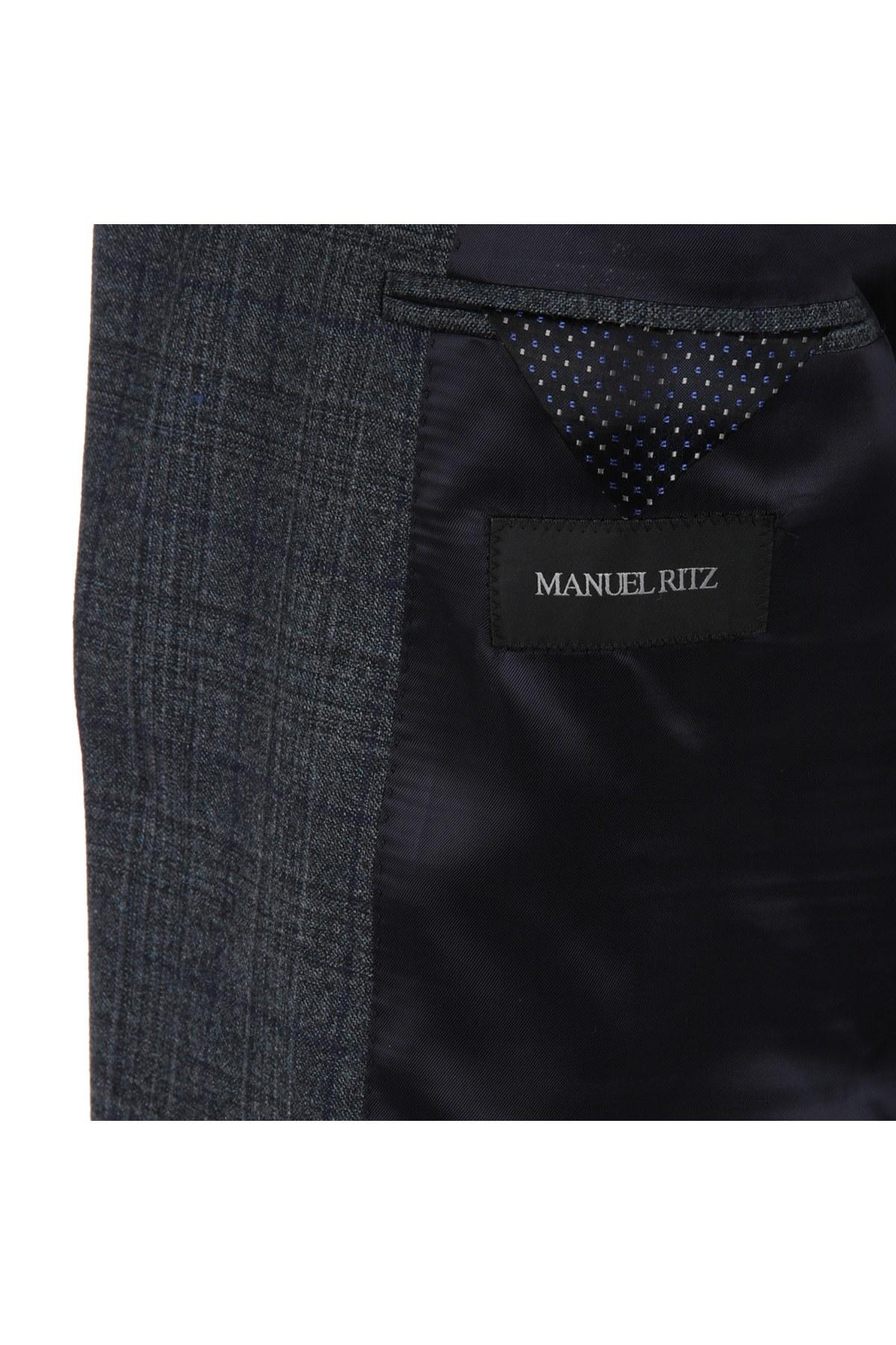 MANUEL RITZ Erkek Takım 2311A448M171574 FÜME
