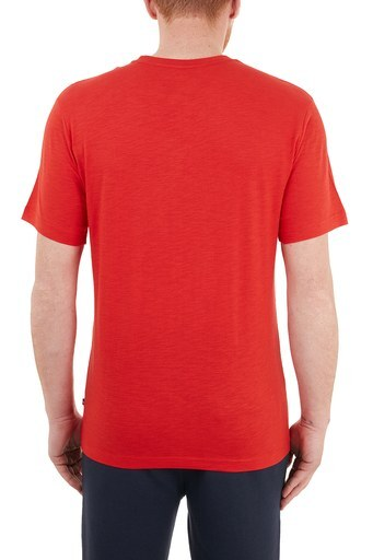 Nautica % 100 Pamuklu Baskılı Bisiklet Yaka Erkek T Shirt VC0104T 6EY KIRMIZI