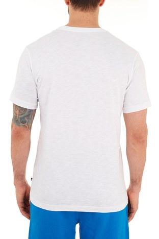 Nautica - Nautica % 100 Pamuklu Baskılı Bisiklet Yaka Erkek T Shirt VC0109T 1BW BEYAZ (1)