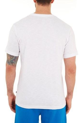 Nautica % 100 Pamuklu Baskılı Bisiklet Yaka Erkek T Shirt VC0109T 1BW BEYAZ