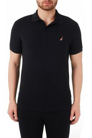 Nautica - Nautica % 100 Pamuklu Slim Fit T Shirt Erkek Polo KC0100T 0TB SİYAH