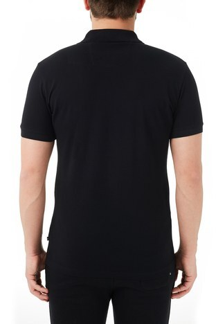Nautica - Nautica % 100 Pamuklu Slim Fit T Shirt Erkek Polo KC0100T 0TB SİYAH (1)