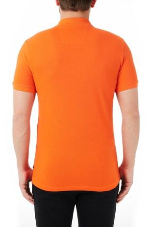 Nautica - Nautica % 100 Pamuklu Slim Fit T Shirt Erkek Polo KC0100T 8PR TURUNCU (1)