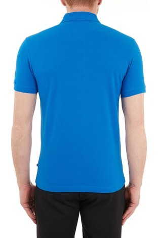Nautica - Nautica % 100 Pamuklu T Shirt Erkek Polo KC0100T 4SJ MAVİ (1)