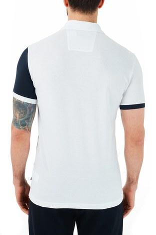 Nautica - Nautica % 100 Pamuklu T Shirt Erkek Polo KC0104T 1BW BEYAZ (1)