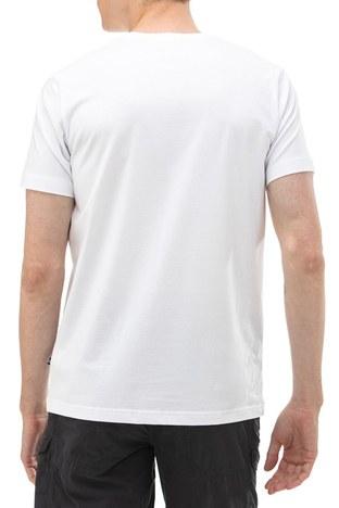Nautica - Nautica Bisiklet Yaka Pamuklu Erkek T Shirt V01000T 1BW BEYAZ (1)